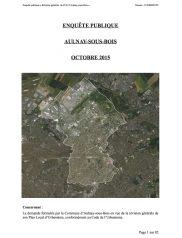 Rapport et conclusions du Commissaire Enquêteur + Annexes d'Aulnay-sous-Bois