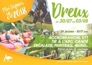 Mini séjours Dreux 30 juillet au 3 août