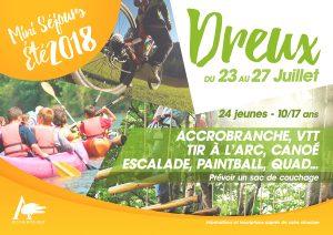 Mini séjours Dreux 23 au 27 juillet