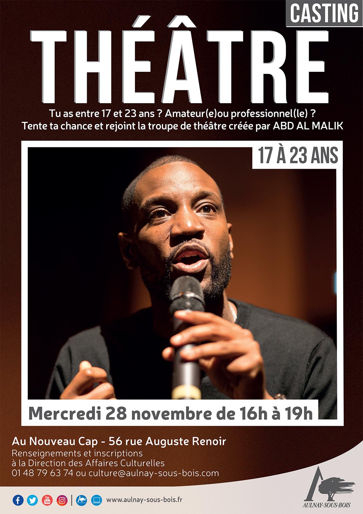 second casting théâtre d'Abdelmalik