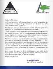 Covid-19 : Lettre d'information municipale – Distribution et gestes à respecter lors de l'utilisation d'un masque