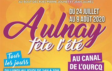 Aulnay fête l'été au canal au l'Ourcq - Juillet/Août 2020