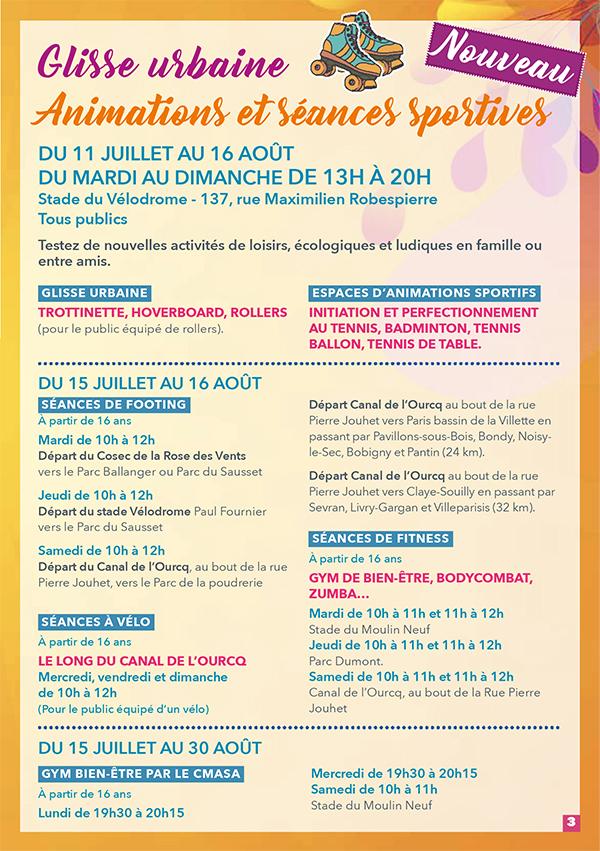 Aulnay fête l'été - Juillet/Août 2020