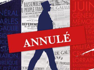 annulation exposition De Gaulle agenda