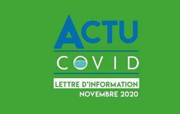 COVID-19 Lettre d'information Novembre 2020