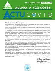 Covid-19 : Lettre d'information municipale