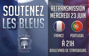 Retransmission mercredi 23 juin 2021 à 21h - France/Portugal