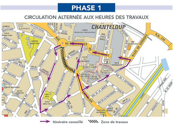 Travaux rue Arthur Chevalier phase 1